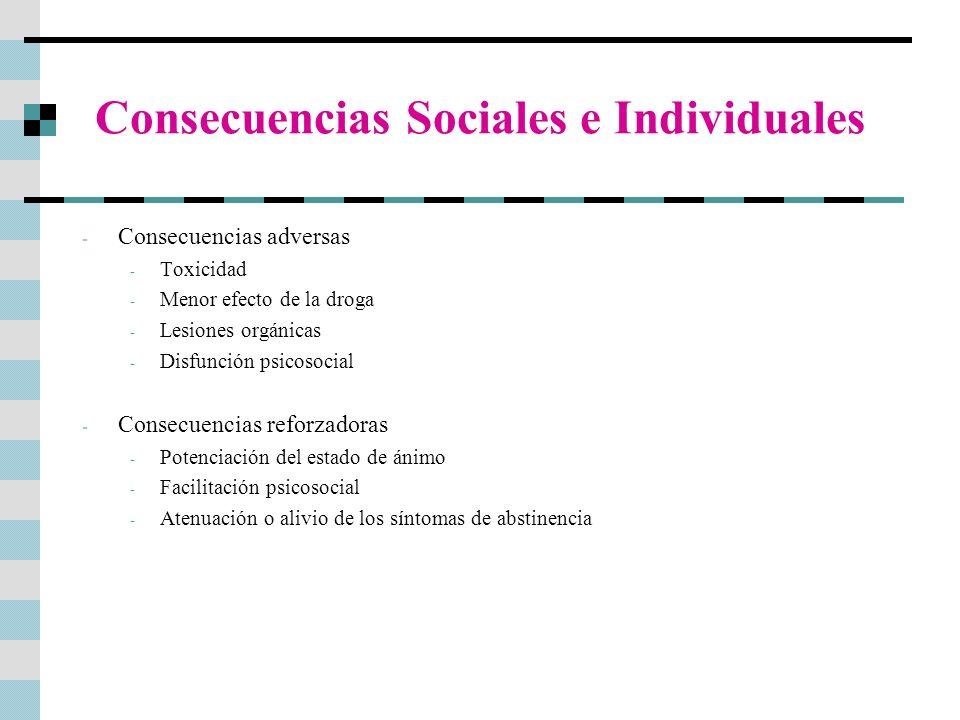 Consecuencias Sociales e Individuales