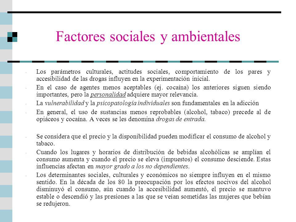 Factores sociales y ambientales