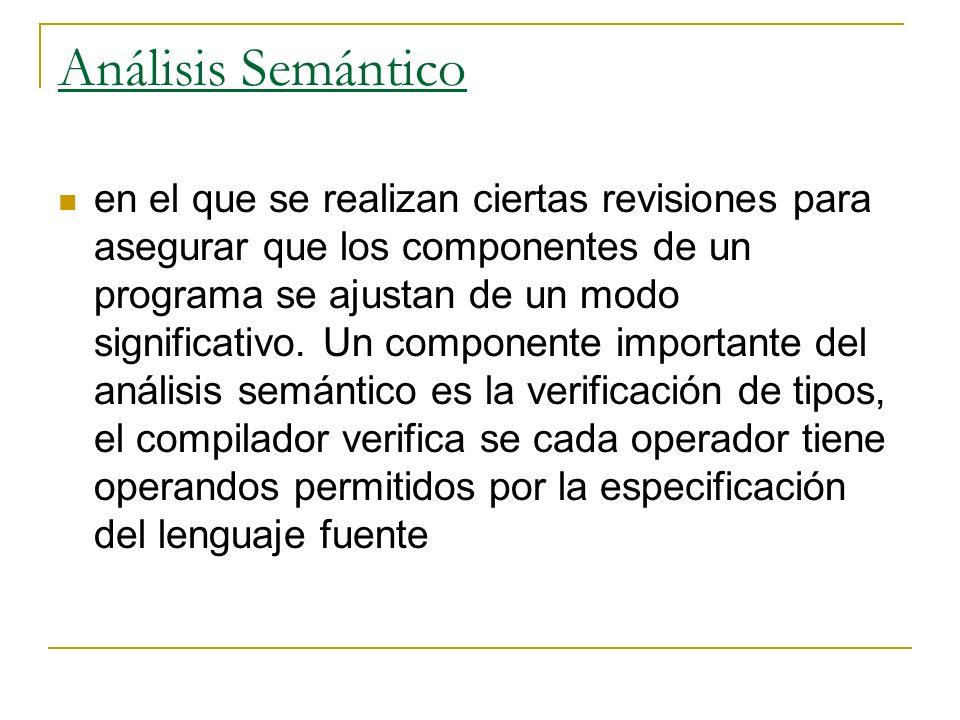 Análisis Semántico