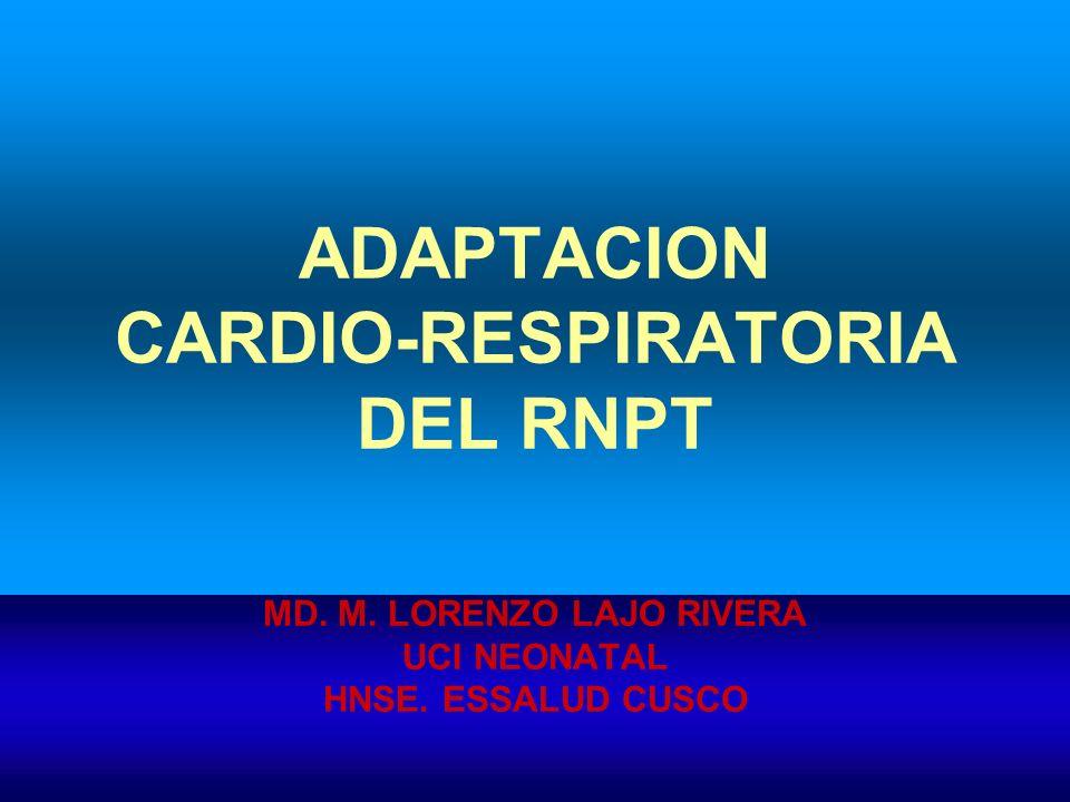 ADAPTACION CARDIO-RESPIRATORIA DEL RNPT