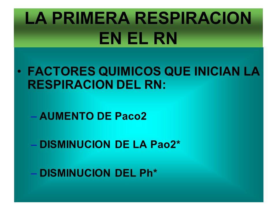 LA PRIMERA RESPIRACION EN EL RN