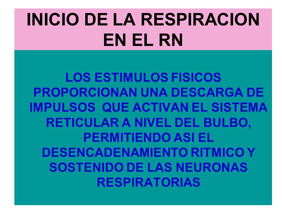 INICIO DE LA RESPIRACION EN EL RN
