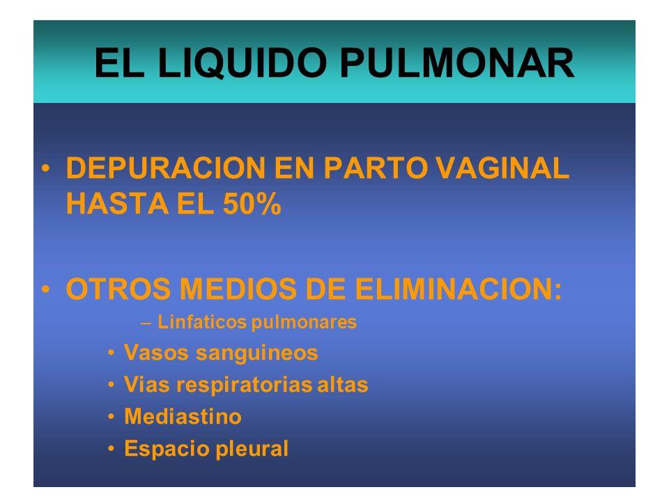 EL LIQUIDO PULMONAR DEPURACION EN PARTO VAGINAL HASTA EL 50%