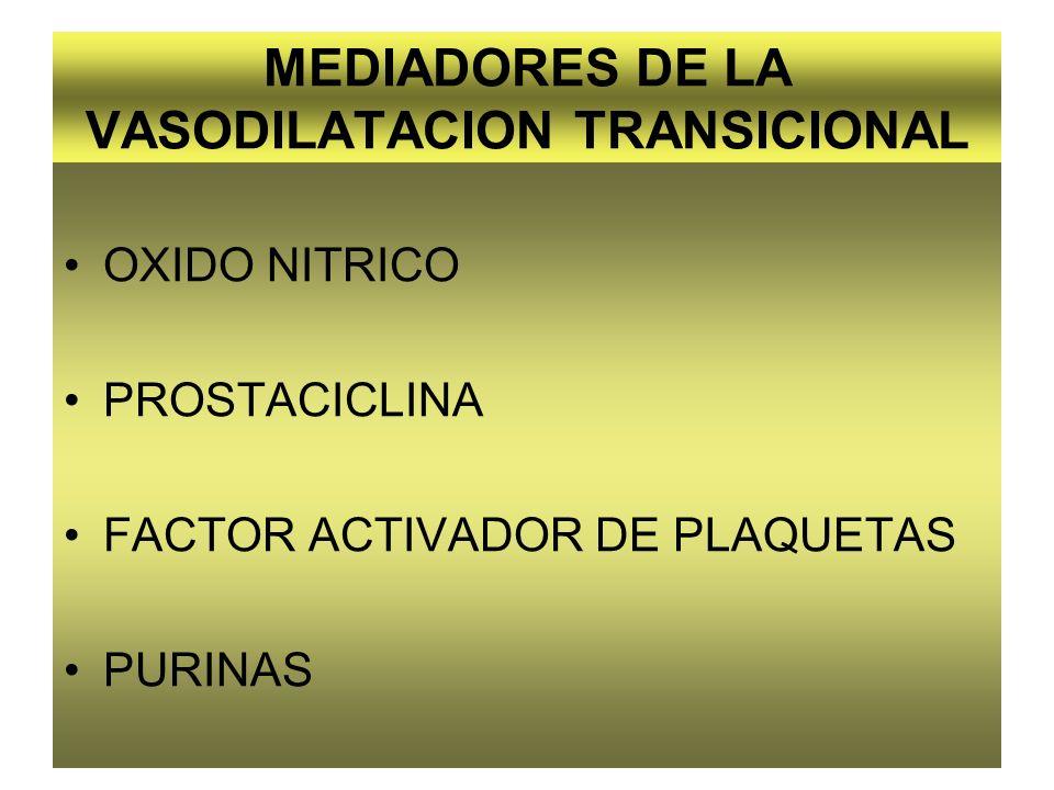 MEDIADORES DE LA VASODILATACION TRANSICIONAL
