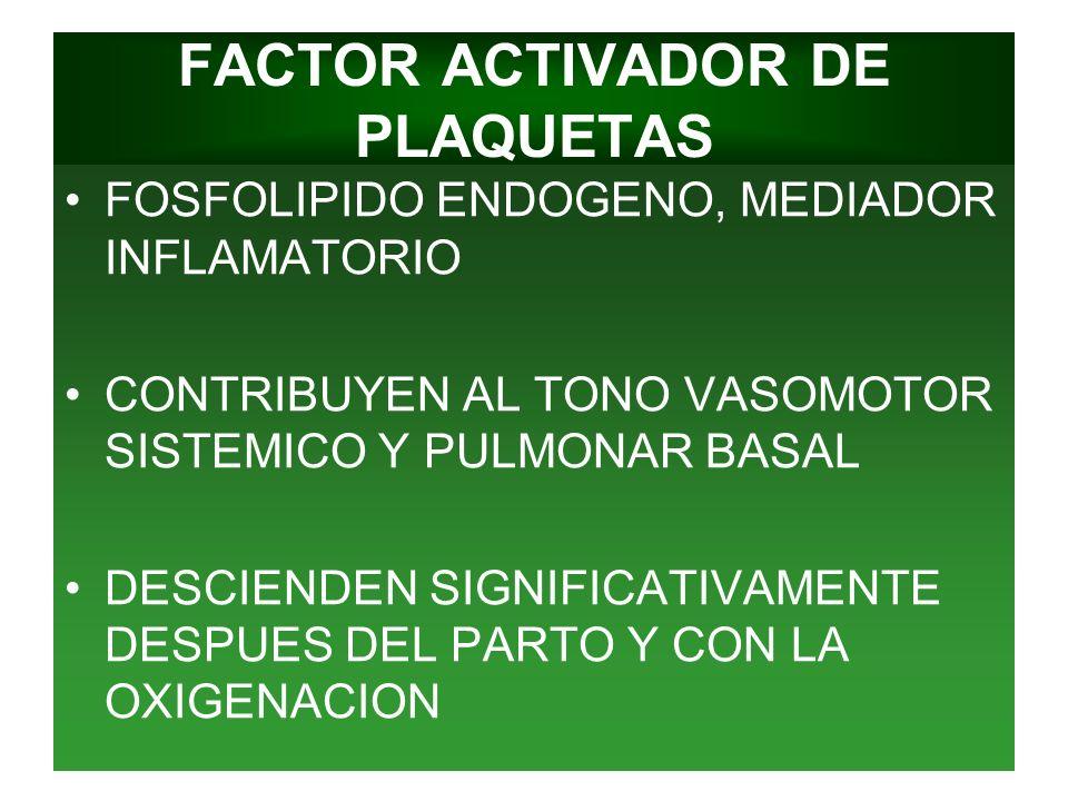 FACTOR ACTIVADOR DE PLAQUETAS