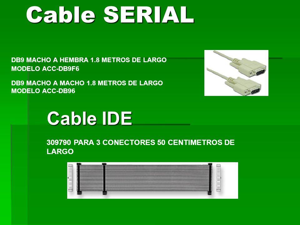 Cable SERIAL DB9 MACHO A HEMBRA 1.8 METROS DE LARGO MODELO ACC-DB9F6. DB9 MACHO A MACHO 1.8 METROS DE LARGO MODELO ACC-DB96.