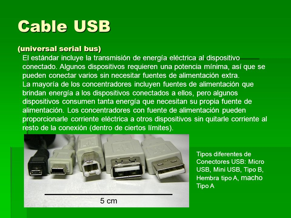 Cable USB (universal serial bus)