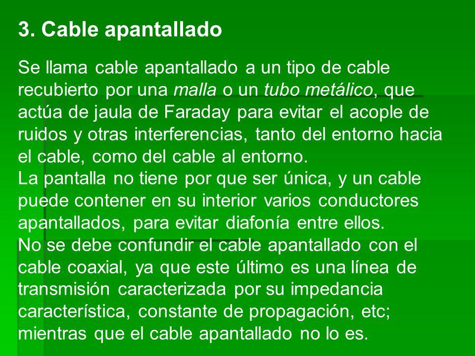 3. Cable apantallado