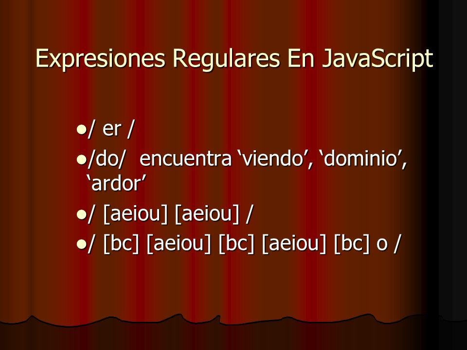 Expresiones Regulares En JavaScript