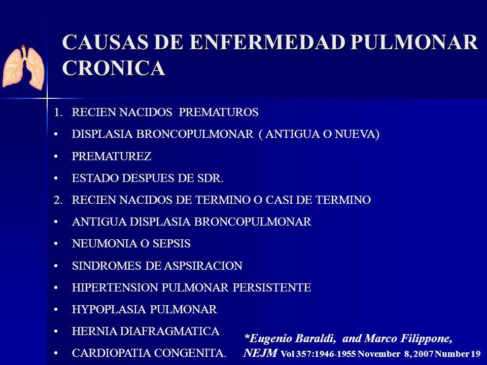 CAUSAS DE ENFERMEDAD PULMONAR CRONICA