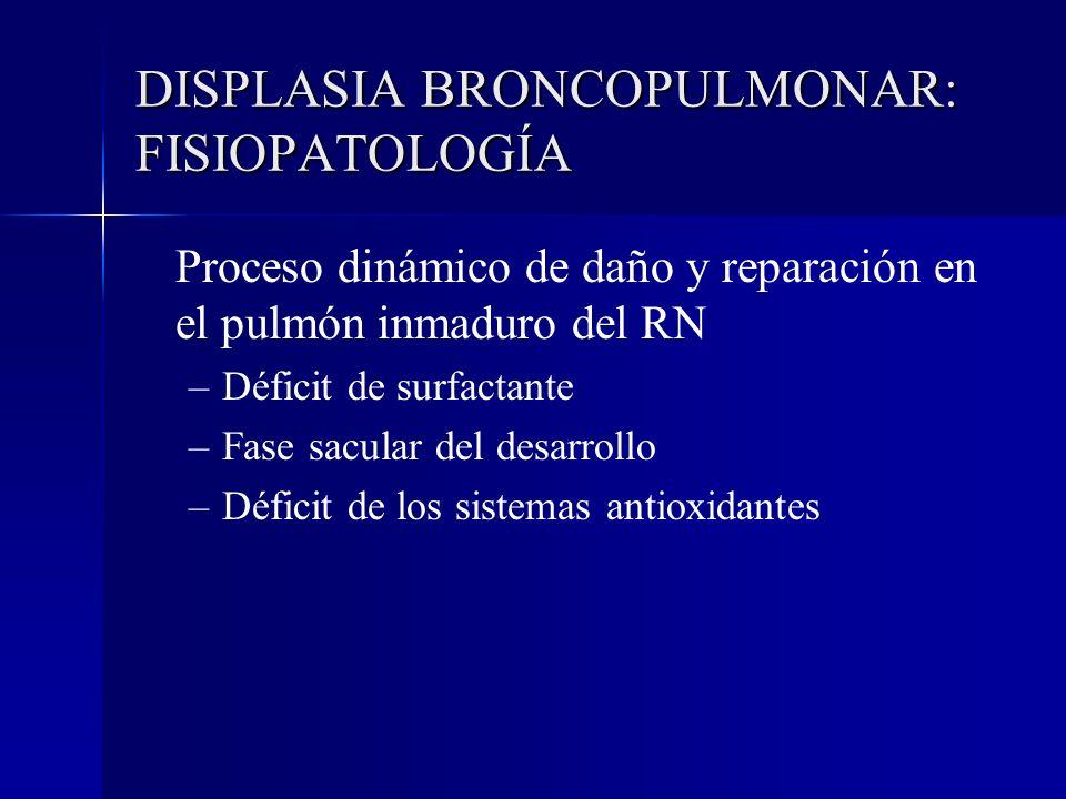 DISPLASIA BRONCOPULMONAR: FISIOPATOLOGÍA