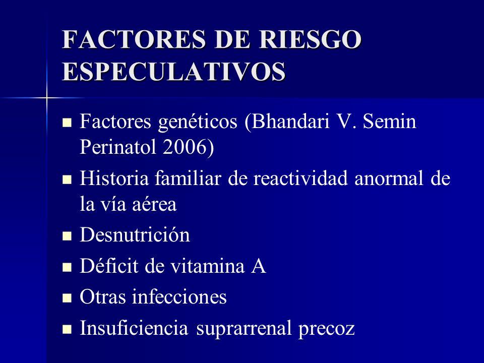 FACTORES DE RIESGO ESPECULATIVOS