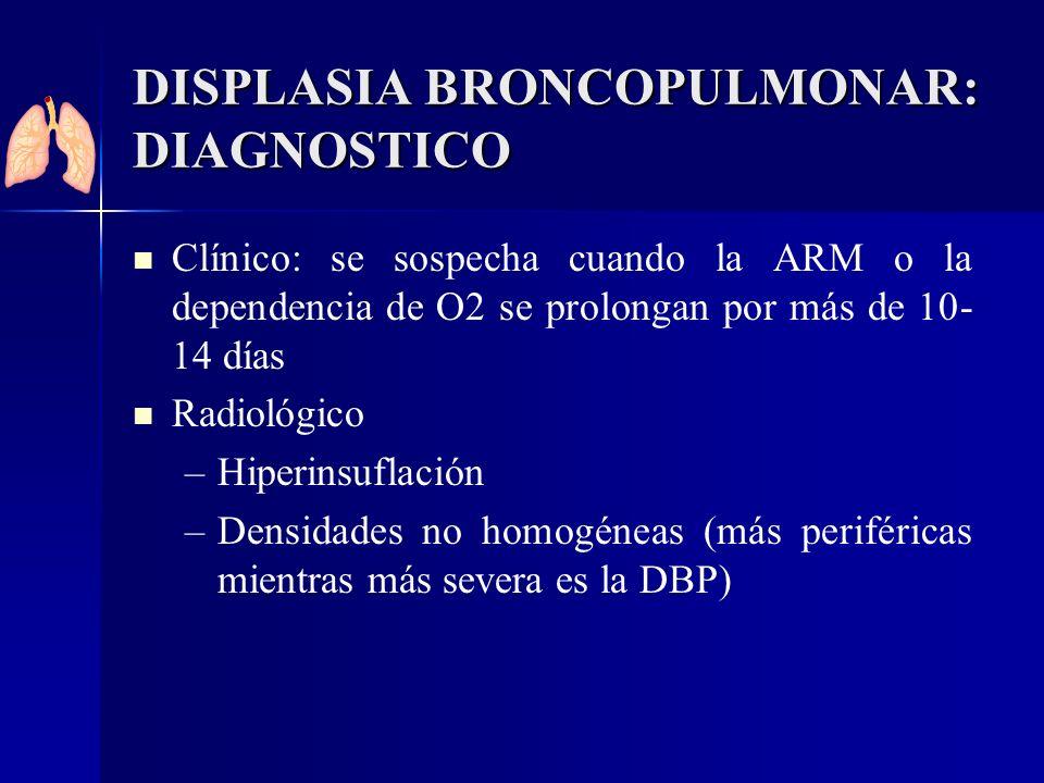 DISPLASIA BRONCOPULMONAR: DIAGNOSTICO