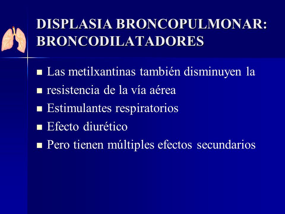 DISPLASIA BRONCOPULMONAR: BRONCODILATADORES