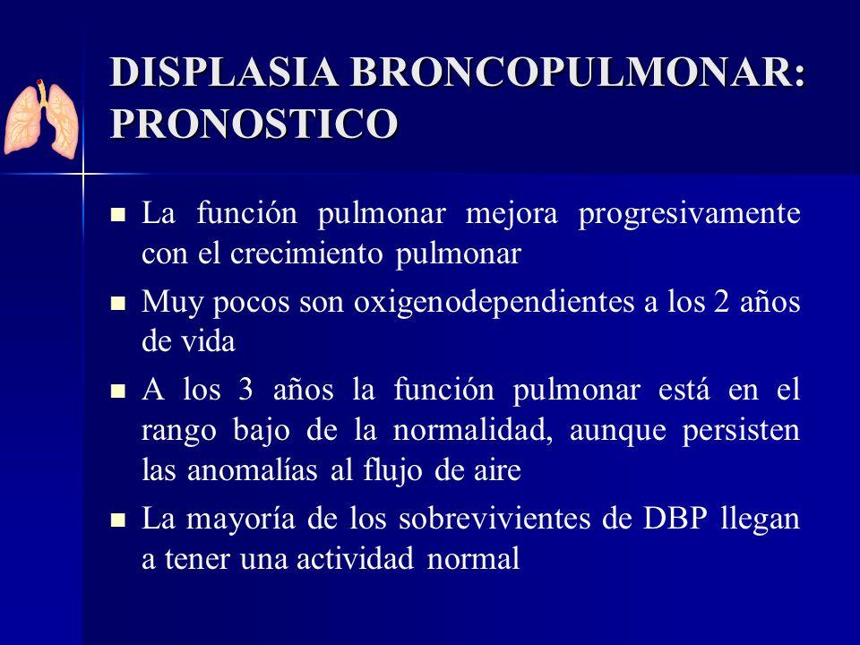 DISPLASIA BRONCOPULMONAR: PRONOSTICO