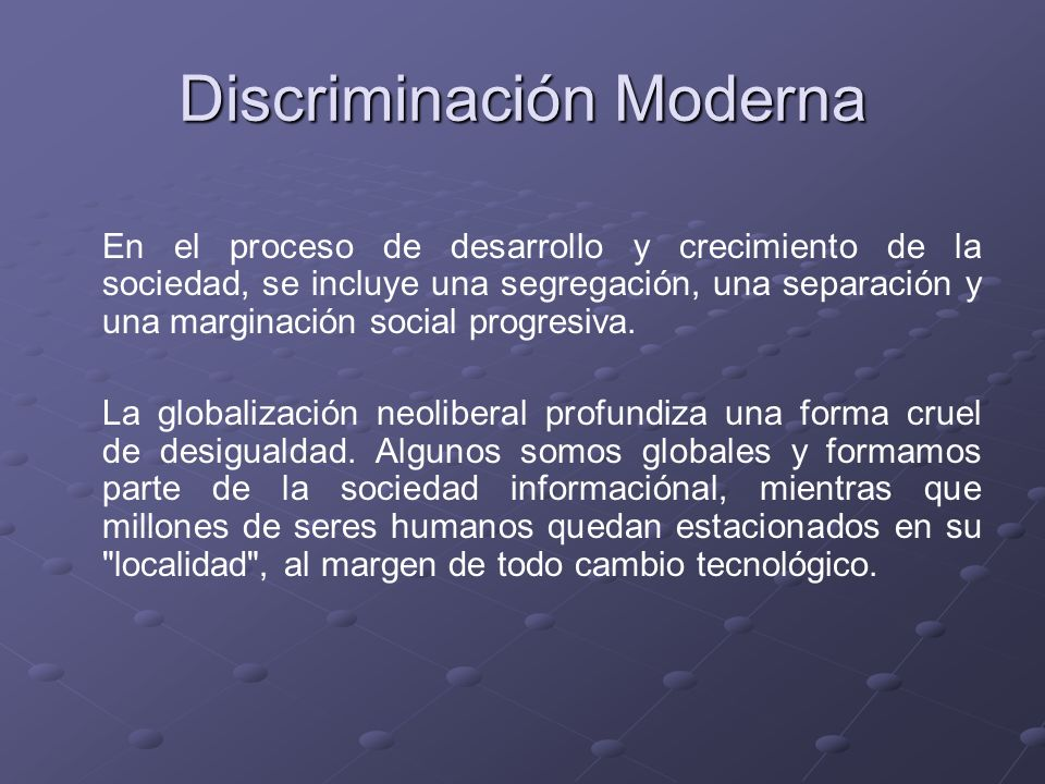 Discriminación Moderna