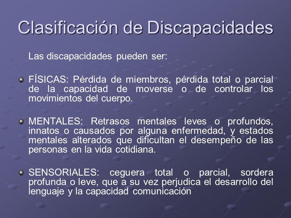 Clasificación de Discapacidades