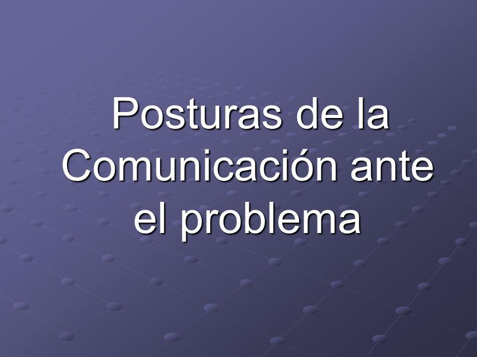 Posturas de la Comunicación ante el problema