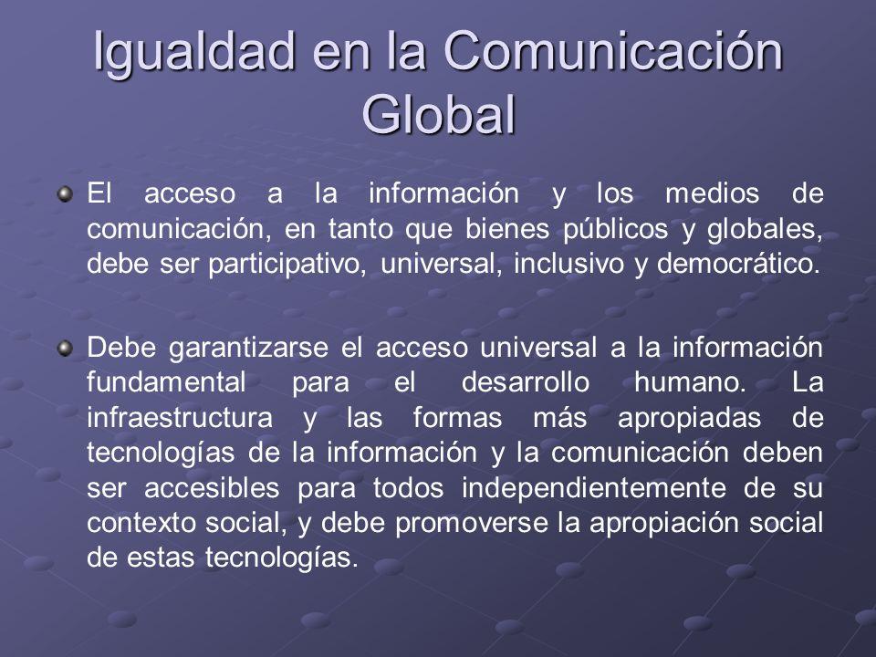 Igualdad en la Comunicación Global