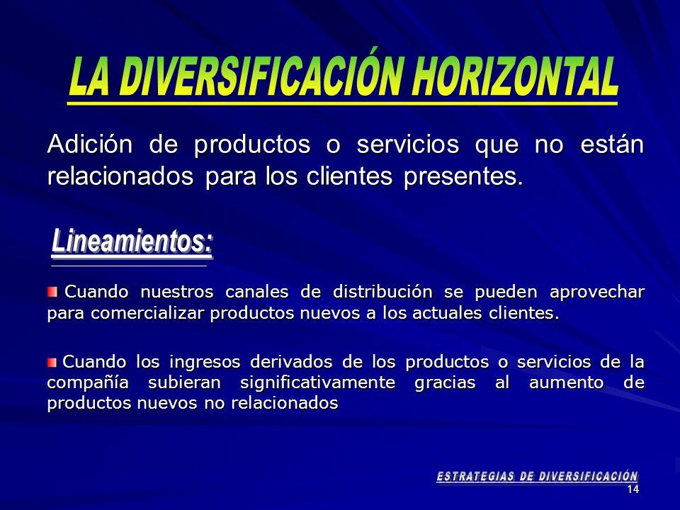 LA DIVERSIFICACIÓN HORIZONTAL