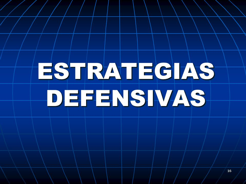 ESTRATEGIAS DEFENSIVAS