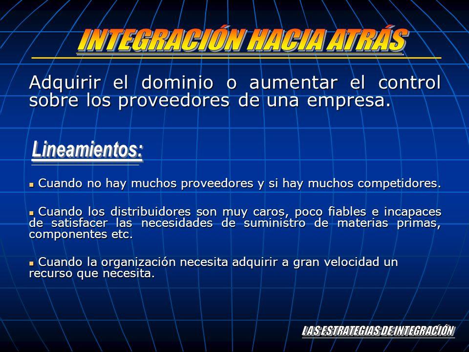 LAS ESTRATEGIAS DE INTEGRACIÓN