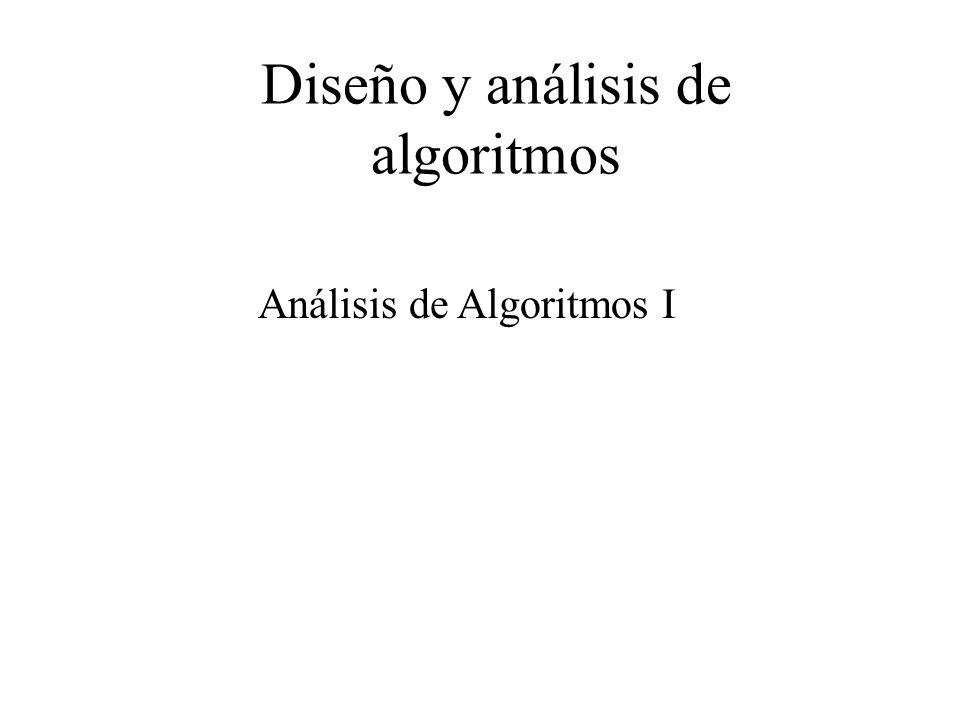 Diseño y análisis de algoritmos