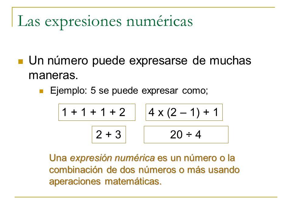 Las expresiones numéricas