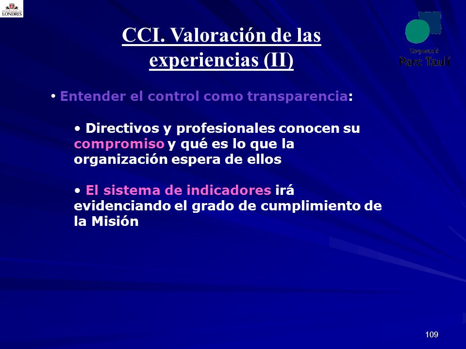 CCI. Valoración de las experiencias (II)