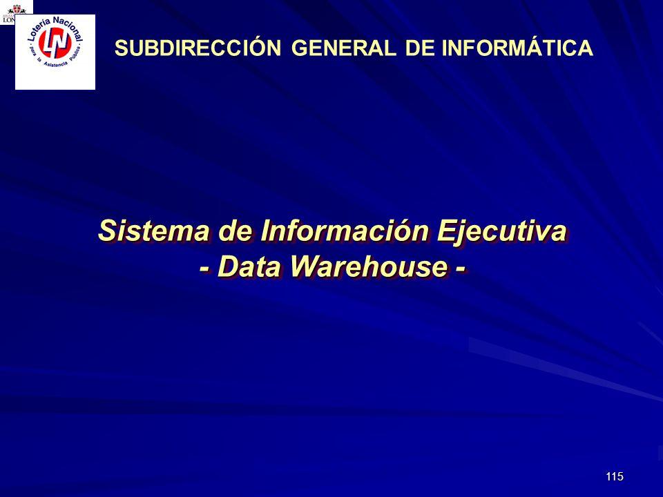 SUBDIRECCIÓN GENERAL DE INFORMÁTICA Sistema de Información Ejecutiva