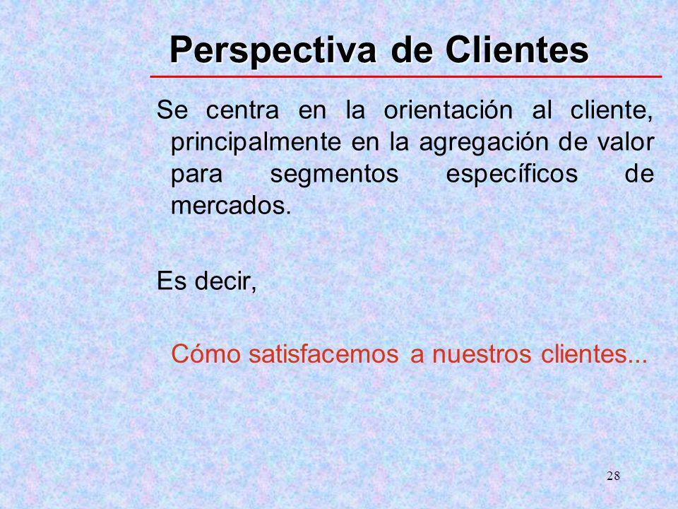 Perspectiva de Clientes