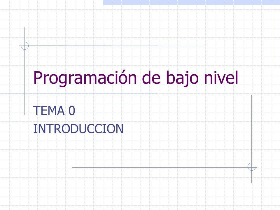 Programación de bajo nivel