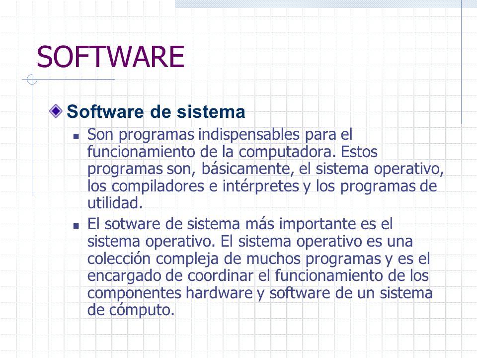SOFTWARE Software de sistema