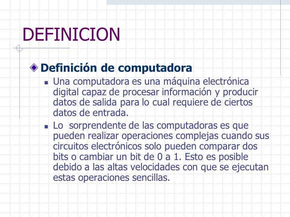 DEFINICION Definición de computadora