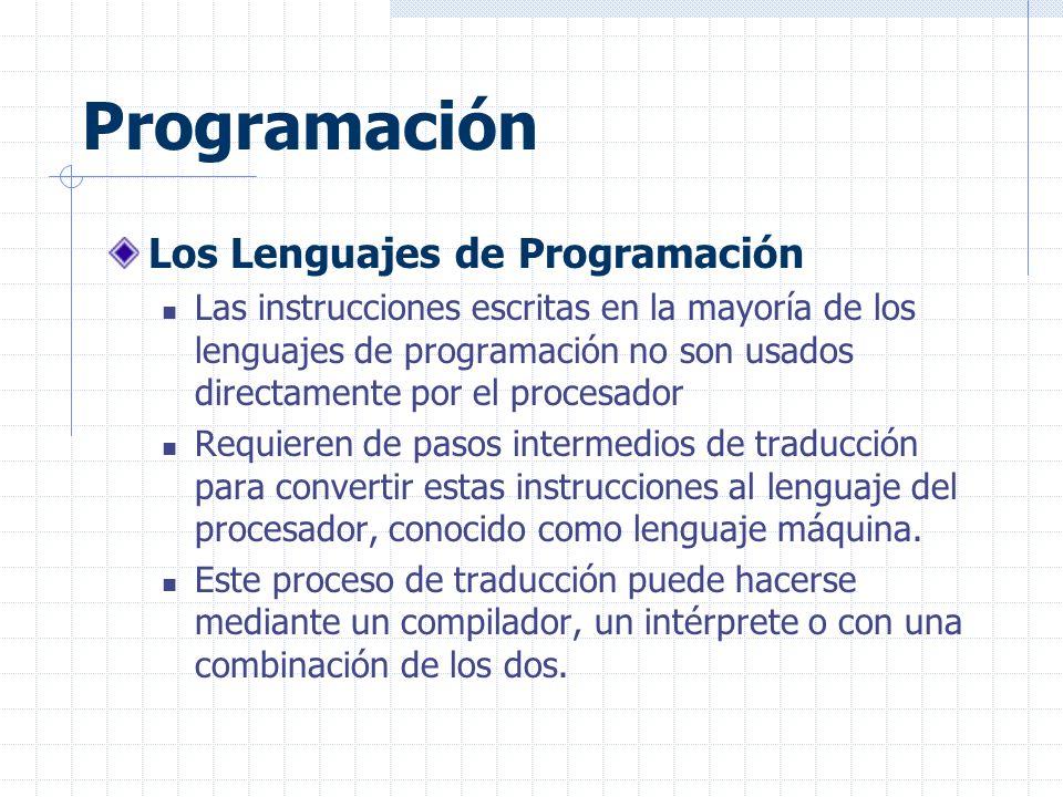 Programación Los Lenguajes de Programación