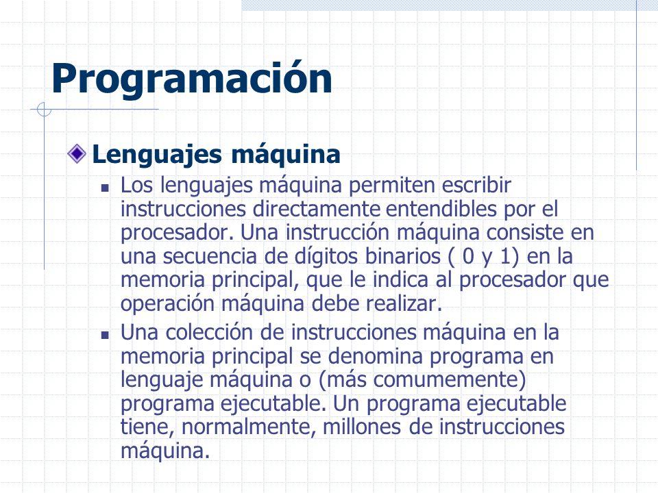 Programación Lenguajes máquina