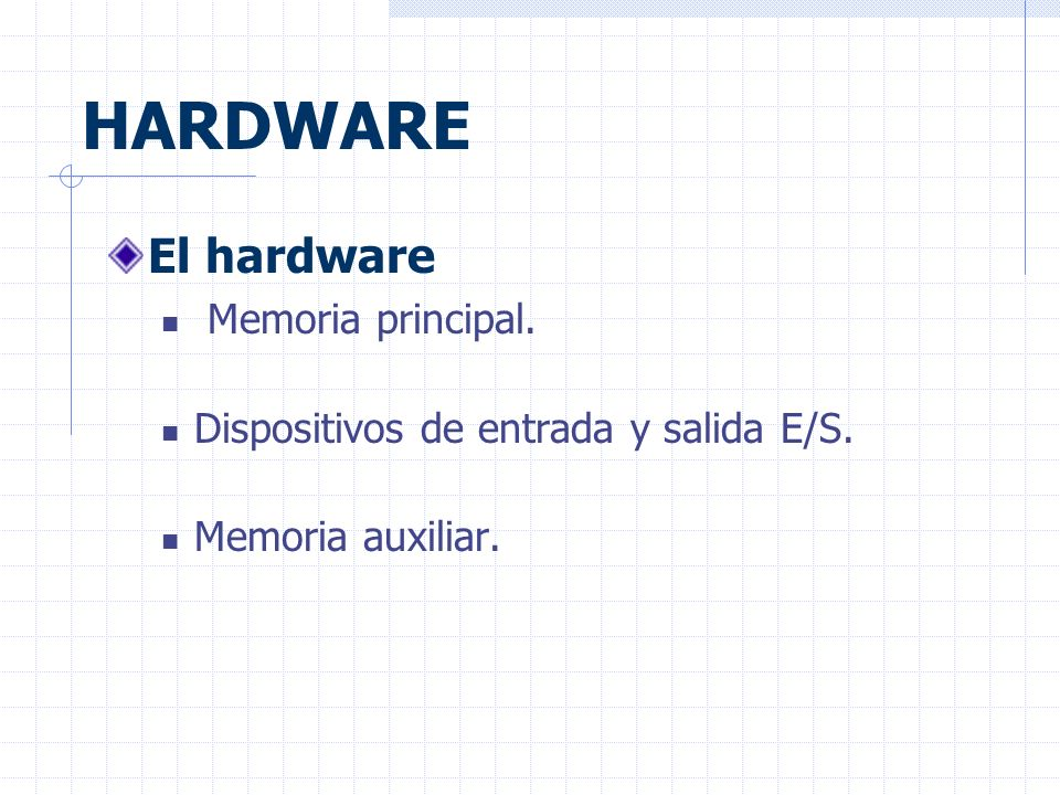 HARDWARE El hardware Memoria principal.