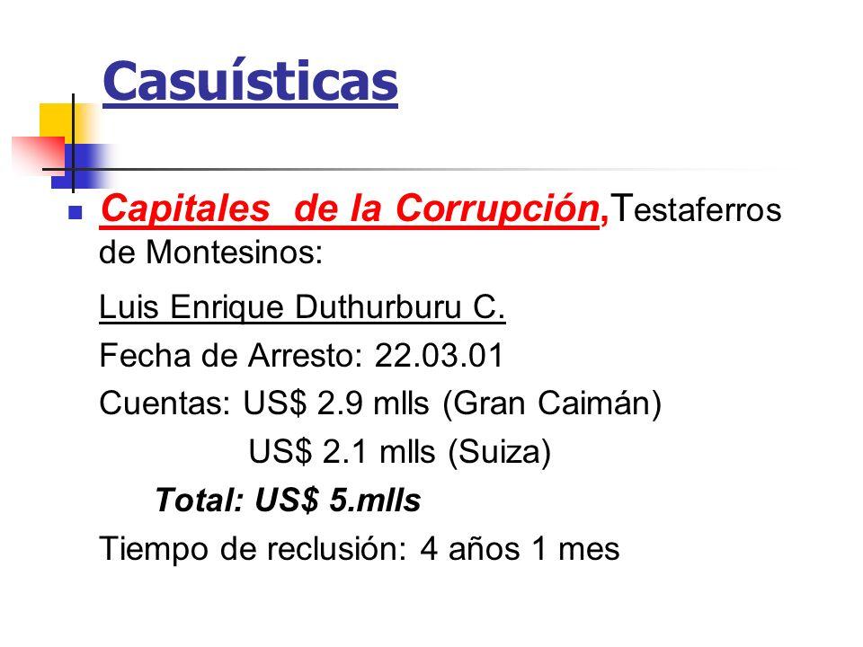 Casuísticas Capitales de la Corrupción,Testaferros de Montesinos: