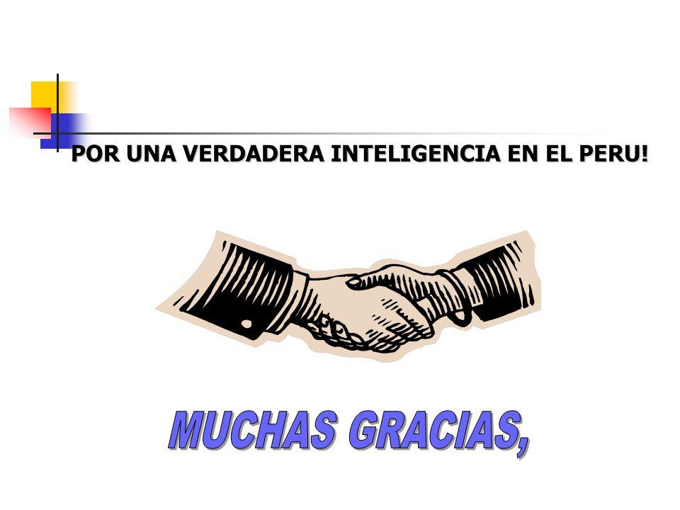 POR UNA VERDADERA INTELIGENCIA EN EL PERU!