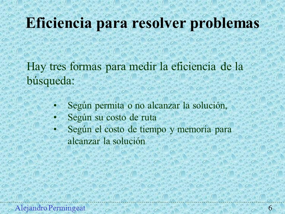 Eficiencia para resolver problemas