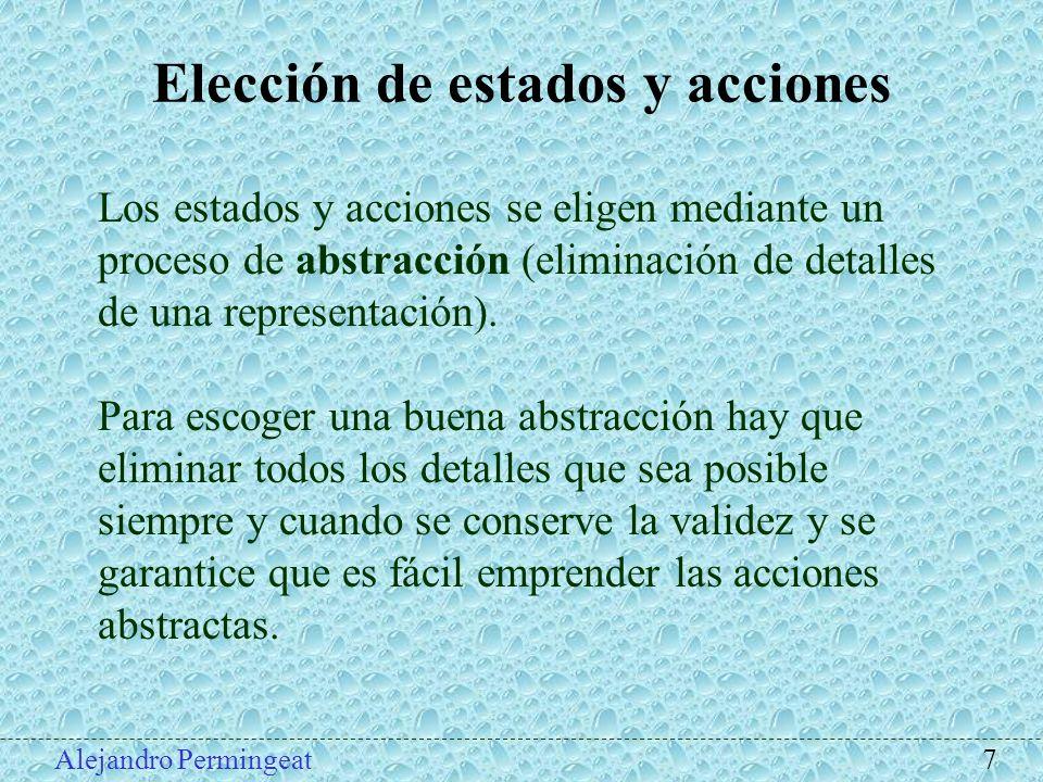 Elección de estados y acciones