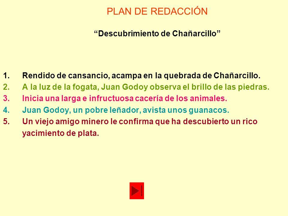PLAN DE REDACCIÓN Descubrimiento de Chañarcillo