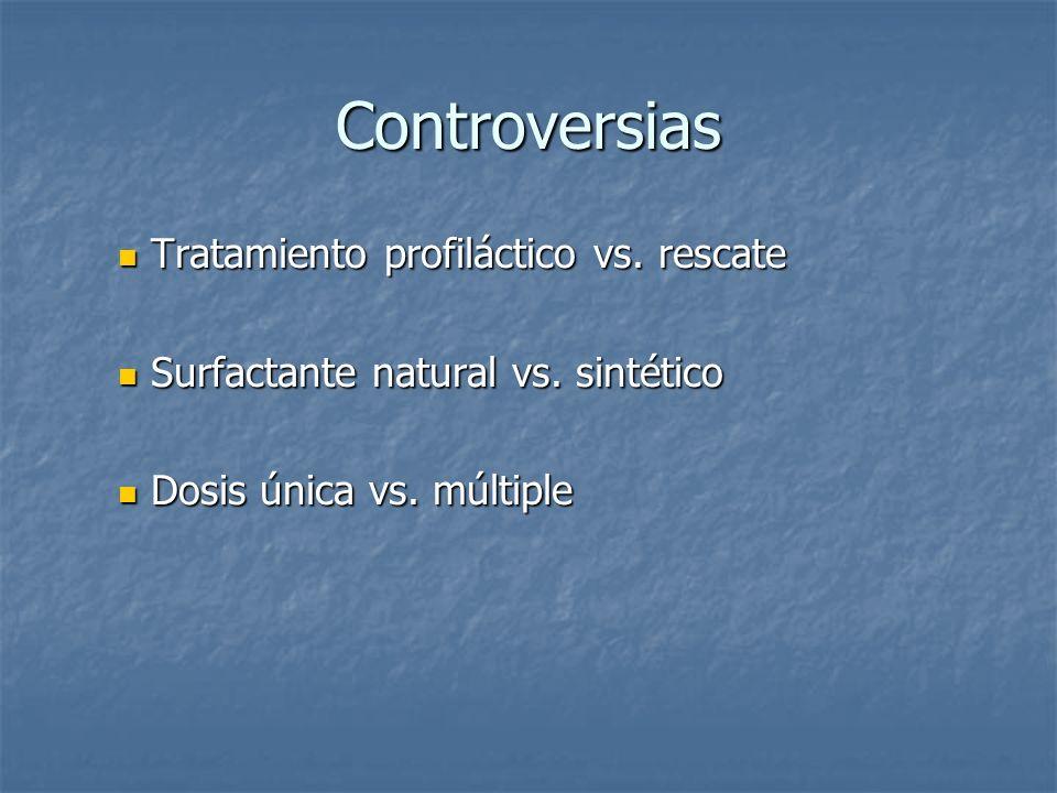 Controversias Tratamiento profiláctico vs. rescate
