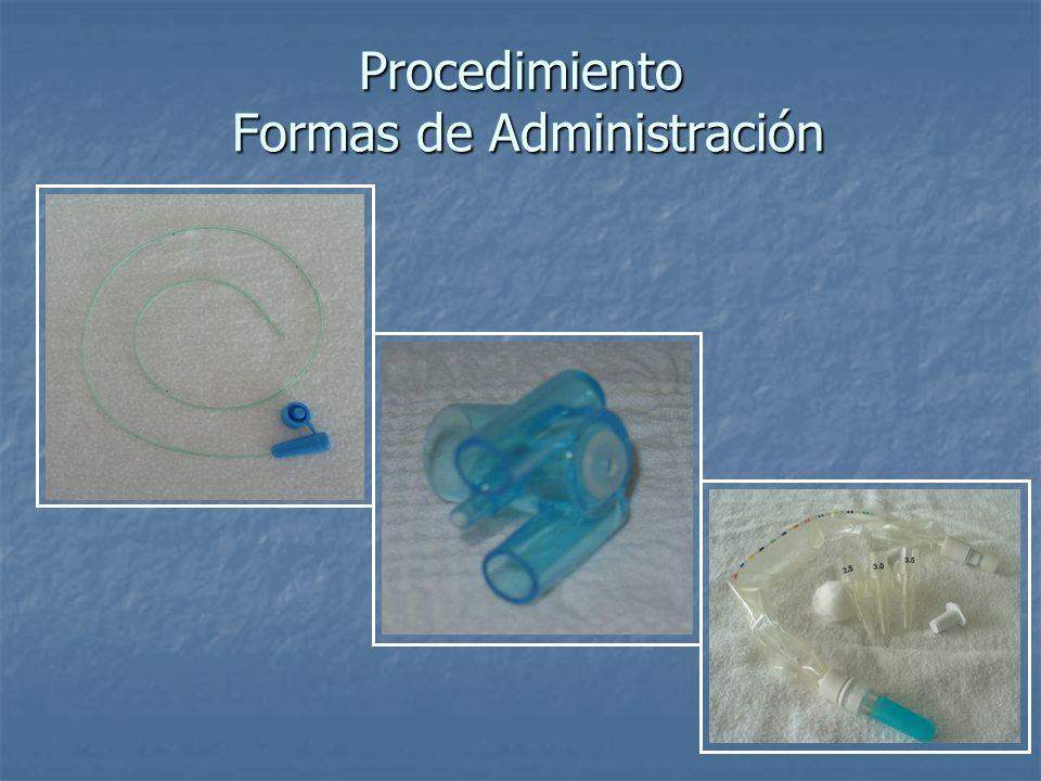 Procedimiento Formas de Administración