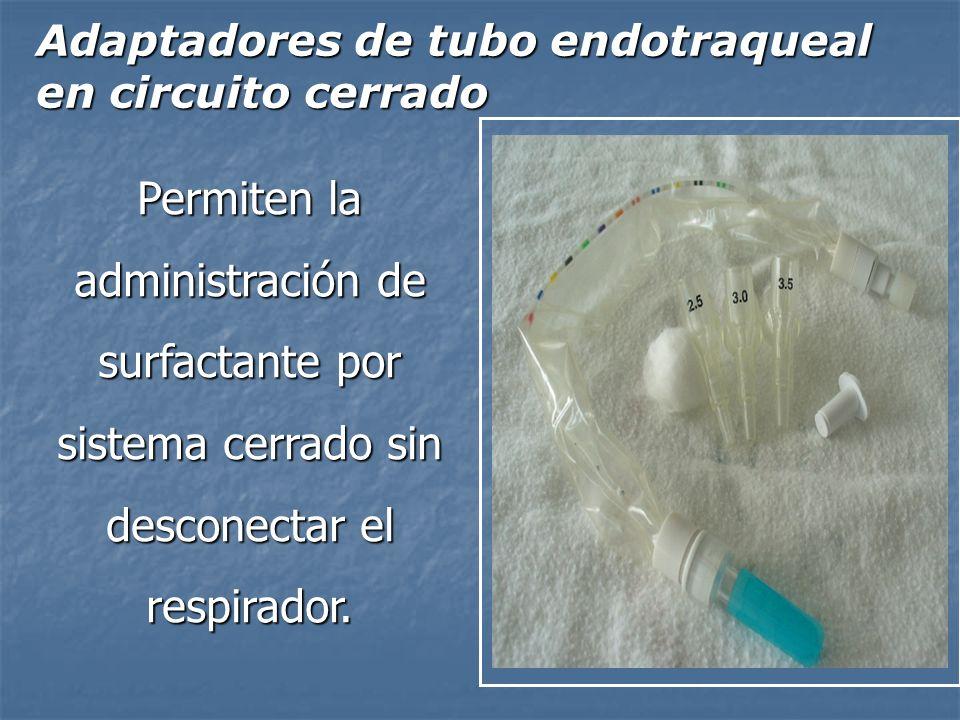 Adaptadores de tubo endotraqueal