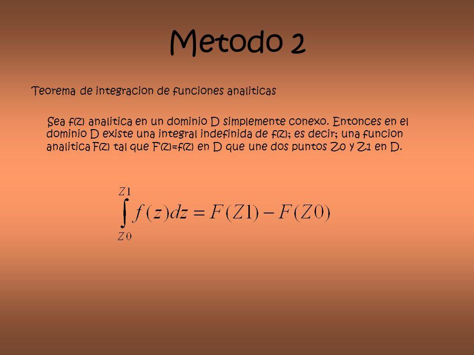 Metodo 2 Teorema de integracion de funciones analiticas