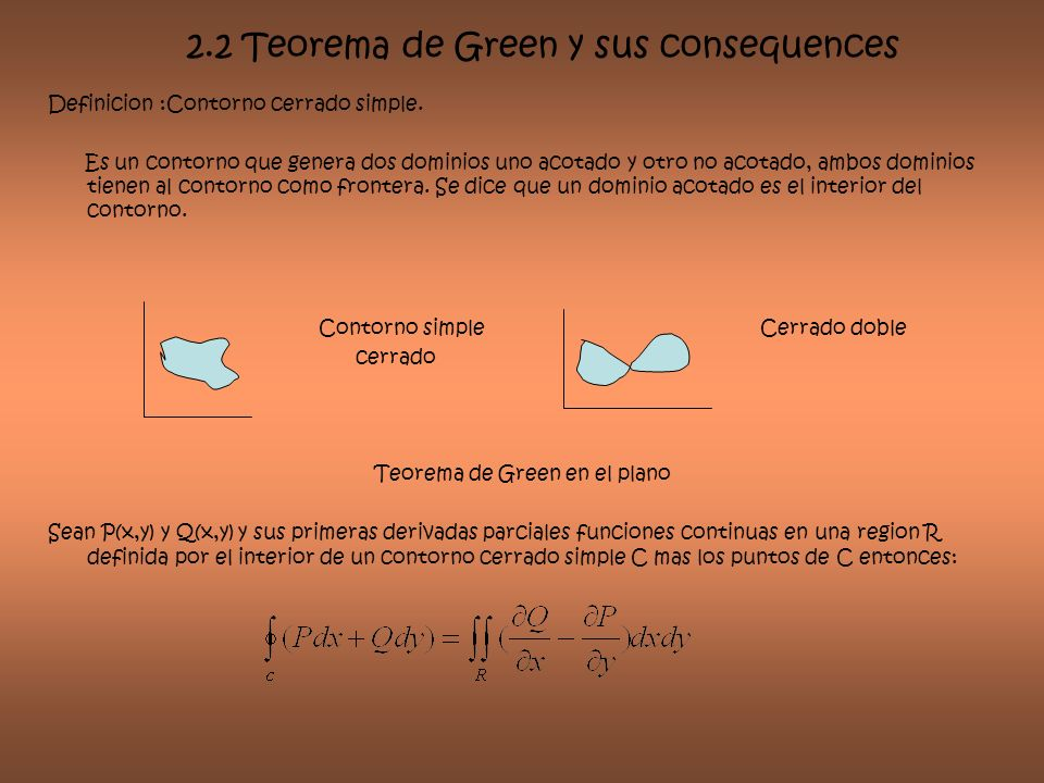 2.2 Teorema de Green y sus consequences