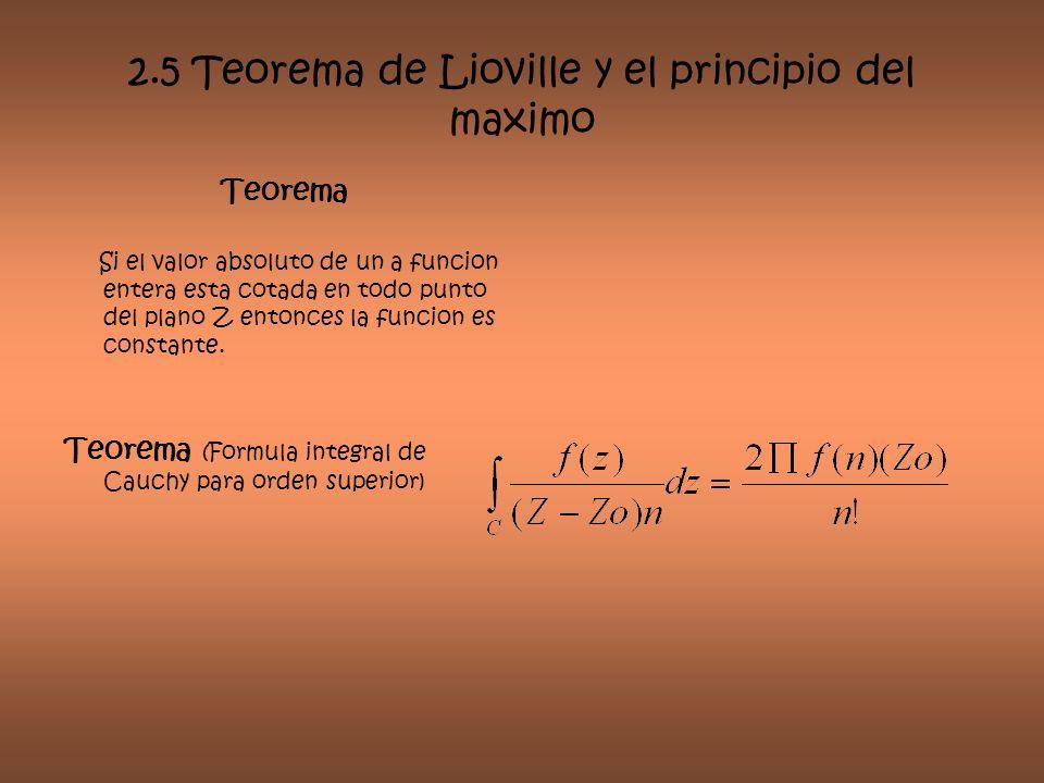 2.5 Teorema de Lioville y el principio del maximo