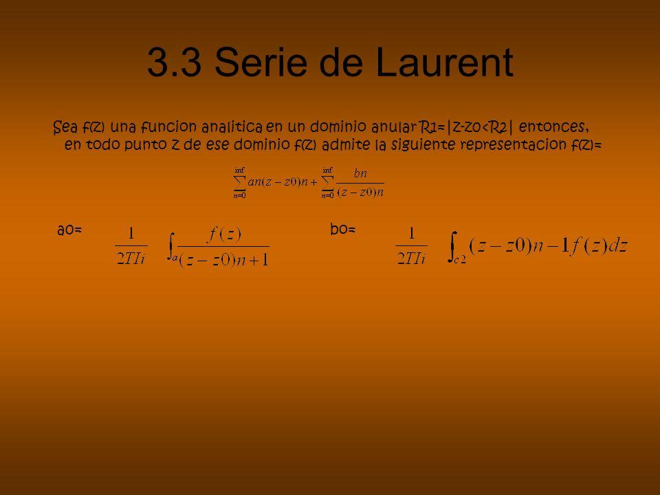 3.3 Serie de Laurent