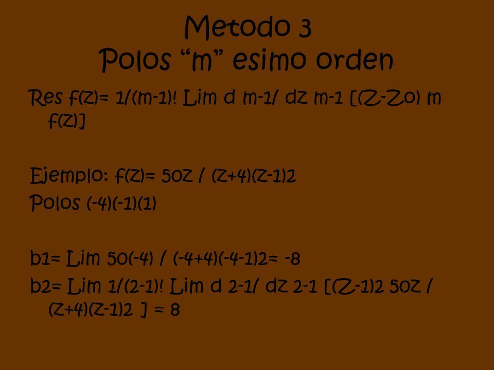 Metodo 3 Polos m esimo orden